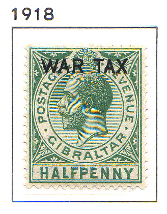 1918 King George V  WAR TAX