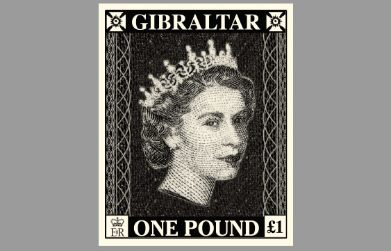 Penny Black £1 Stamp