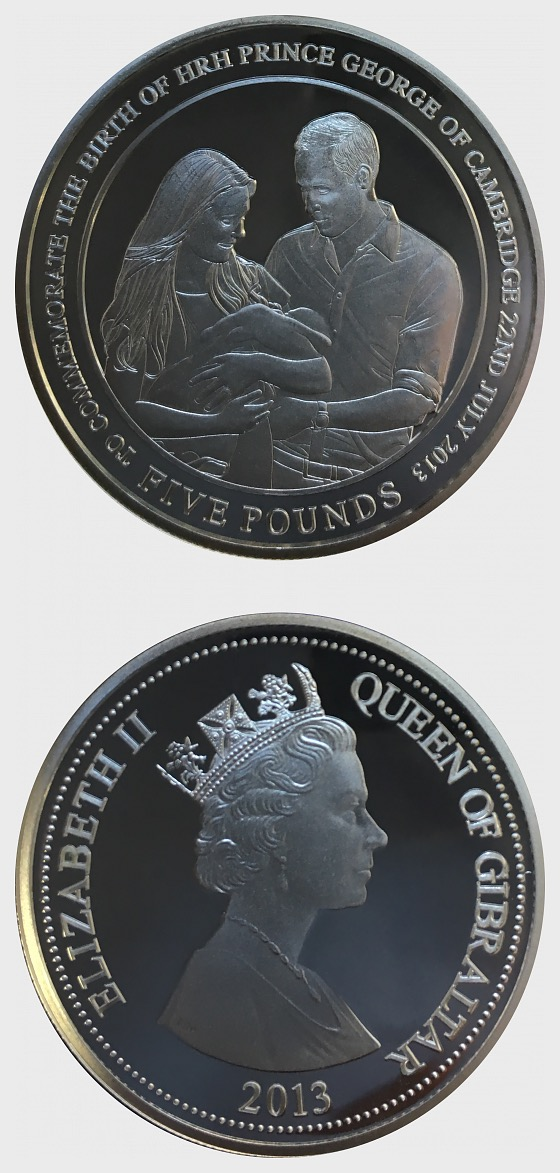 Royal Baby Prince George Silver Coin Gibraltar