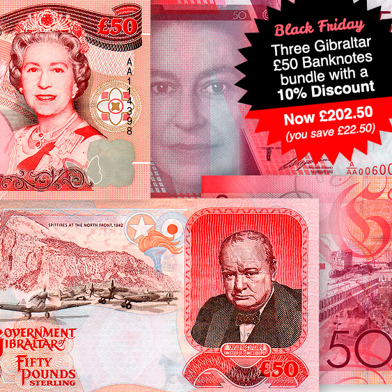 £50 Banknotes bundle with 10% Discount